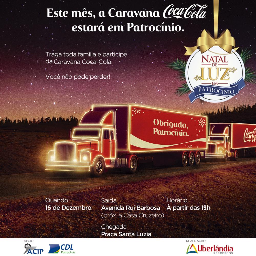0fb8aa7b7a9b1 Um dos momentos mais emocionantes que antecedem o Natal está chegando! Em  uma parceria entre as ACIP CDL e Coca-Cola